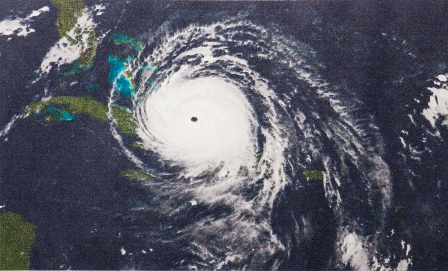 Vertical view of hurricane