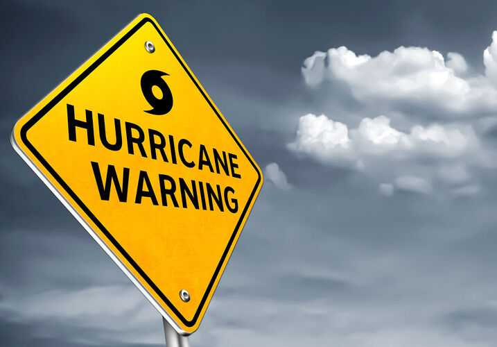 Hurricane warning sign