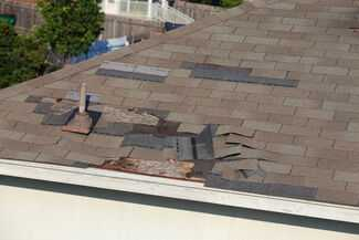 Wind damage to roof